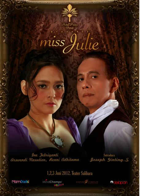 Theater MISS JULIE               actress    Ine Febriyanti  at Salihara   ,Photo for Poster and Documentation at General rehearsal in gallery